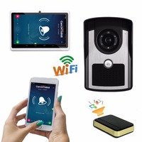 Draagbare wifi video intercom video deurtelefoon camera draadloze interfone 7
