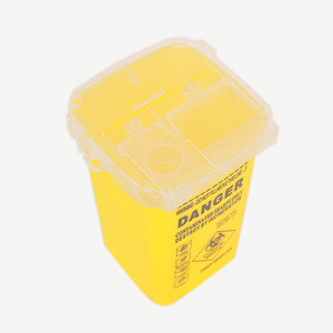 Image 3 - 1L Capacity Sharps Container Medical Needles Bin Biohazard Tattoo Piercing Needles Disposal Collect Box Tattoo Artist Waste Box