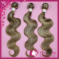 Forawme brazilian hair body wave human hair extensions mix color #8/613 medium brown/lightest blonde mixed lengths 1or2 pcs lot