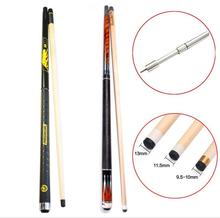 PREOAIDR 3142 8 Pieces Laminated Shaft Pool Cue Stick 11.5mm 12.75mm 10mm Tip with Telescopic Extension BK3 Punch Jump