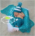 Crochet photography blanket wrap cloth Children Newborn photography props Baby Girls Boys Soft blankets Photographic Background
