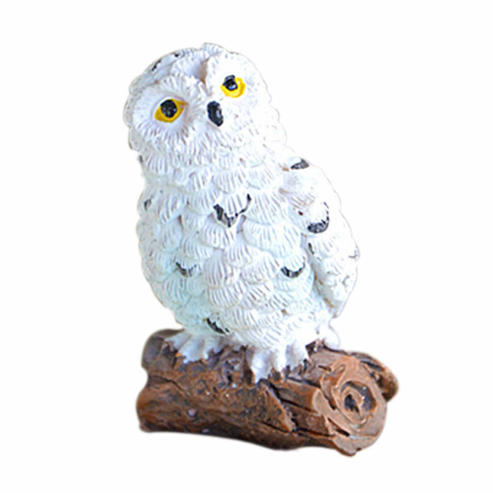 Cute Miniature Craft Mini Gifts Patio Garden Decoration Resin Simulation Outdoor DIY Home Micro Landscape Bonsai Imitation Owl