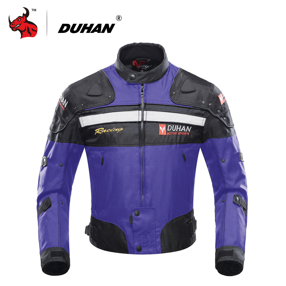 DUHAN Autumn Winter Cold-proof Motorcycle Jacket Men's Moto Jacket Oxford Cloth Motocross Clothing With Five Protector Guards duhan motorcycle jacket motocross jacket moto men windproof cold proof clothing motorbike protective gear for winter autumn