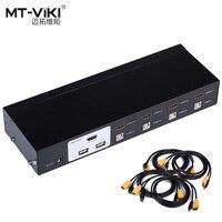 MT-VIKI 4 Portรถยนต์HDMI KVM Switch USB Hotheyคอนโซล1080จุดวิดีโอSwitcherสำหรับ4ชิ้น1การตรวจสอบ1กิโล