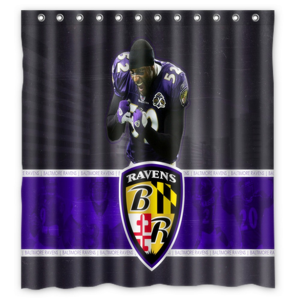 Online Shop Anime Shower Curtain One Piece Dragon Ball Z Bleach Fairy Tail Naruto Together Baltimore Ravens 66x72 Inch