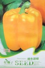 (Mix minimum order $5)1 original pack Vegetable 8pcs Orange Sweet Pepper Seeds vegetable seeds free shipping