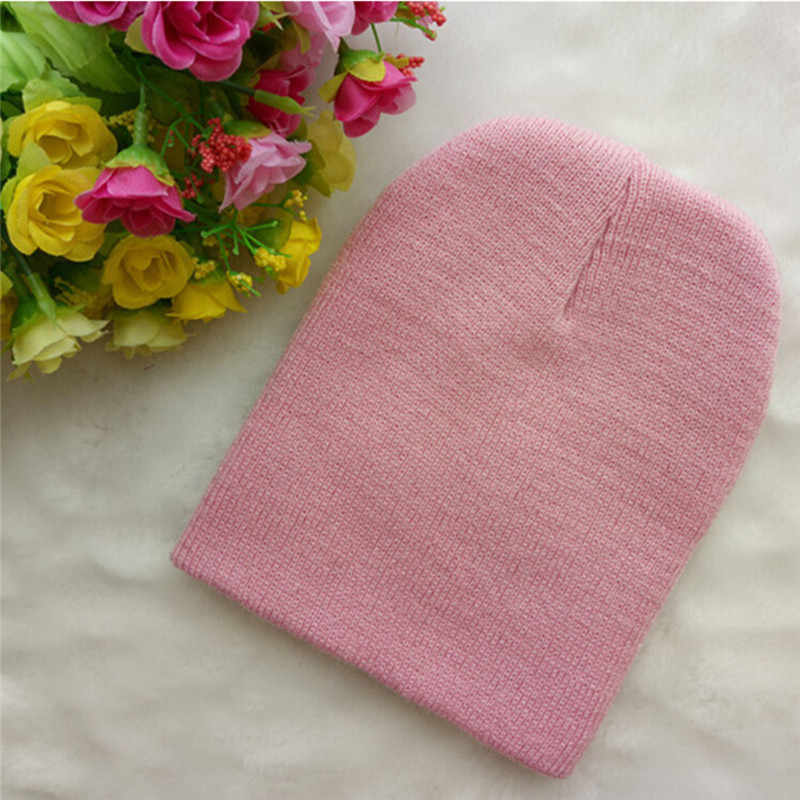 New  Fashion Newborn Baby Boy Girl Unisex Cap Beanie Toddler Infant Children Cotton Blend Soft Cute Solid Hat 8 Colors