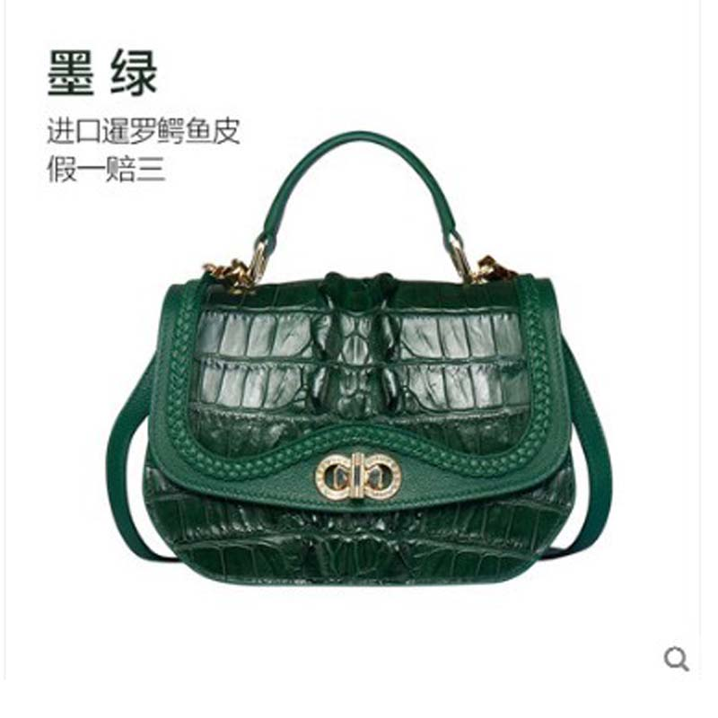 yuanyu yuanyu New crocodile leather handbag for ladies. Genuine imported crocodile leather women handbagyuanyu yuanyu New crocodile leather handbag for ladies. Genuine imported crocodile leather women handbag