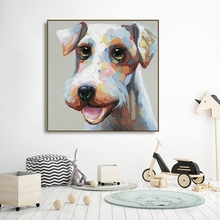 Cute Dog Canvas Painting Calligraphy Poster and Prints For Living Room Kids Room House Wall Decor Art Home Decoration Picture black and white art canvas painting calligraphy poster and prints living room house wall decor art home decoration picture