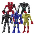 5x Real Steel Atom Midas Noisey Boy Zeus 13 cm Acción PVC Figure Set