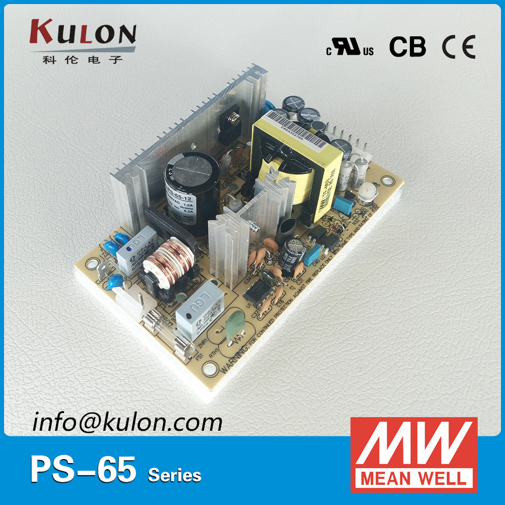 Original MEAN WELL PS-65-27 single output 2.4A 65W 27V open frame Meanwell Power Supply PS-65 PCB type
