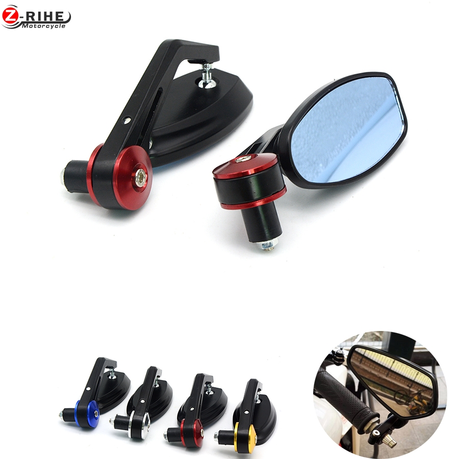 "for 7/8"" 22MM Handlebar Motocycle Rearview Mirrors Aluminum Alloy Motor Side Mirrors Motorcycle Accessories for yamha suzuki bmw"