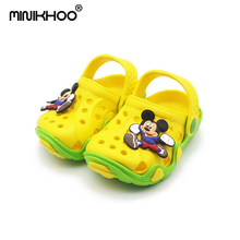 Mini Melissa Mickey Minnie 2018 Summer Fashion Children Garden Shoes Children Cartoon Sandal High Quality Kids Garden Sandals(China)