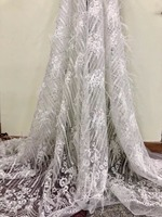 2018New arrival african feather lace fabrics high quality guipure lace fabric for Nigerian tullelace fabric