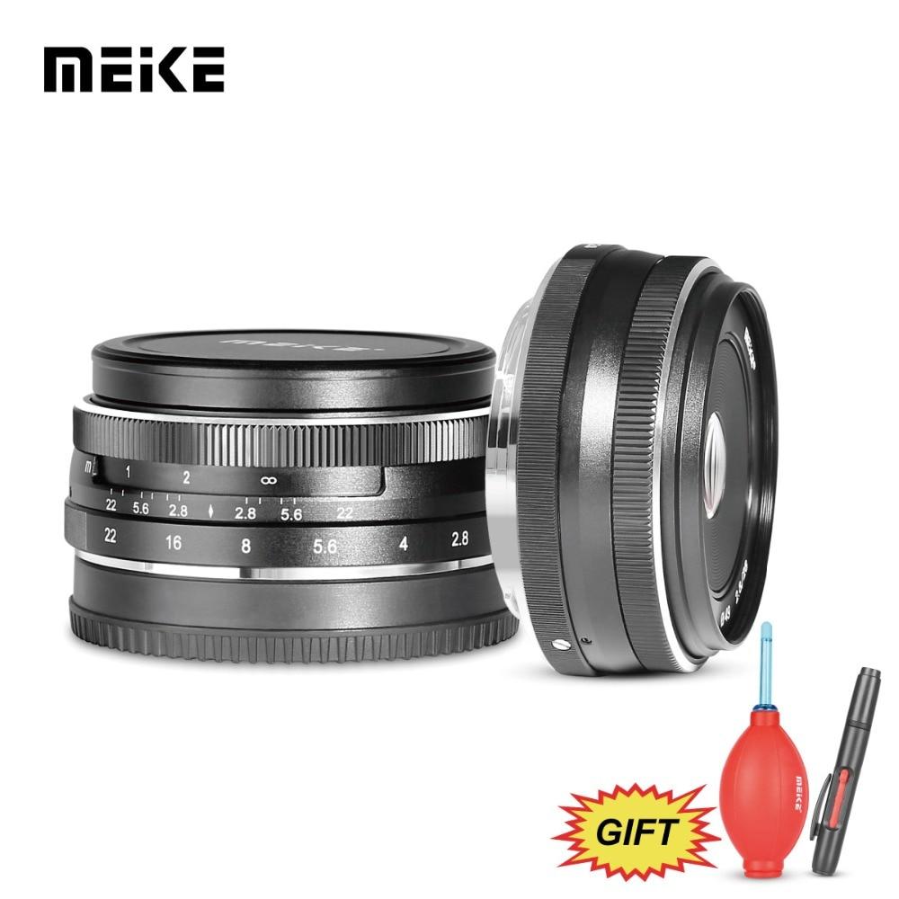 MEKE MK 28mm f/2.8 large aperture manual focus lens for Olympus/Panasonic Mirrorless Camera lens for Micro 4/3-mount System+G мясорубка panasonic mk g1800pwtq