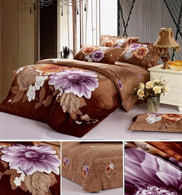 High quality- bed sets and quilt cover queen size Luxery 3D flower  duvet cover/  bed cover set/ bed linen/ 4pcs free shipping