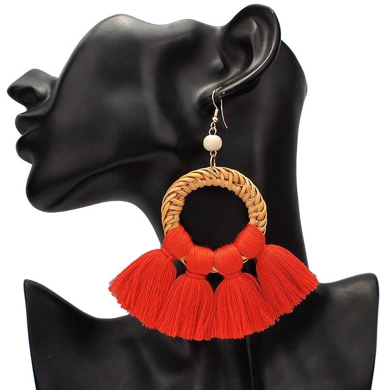 Orange Red Earrings