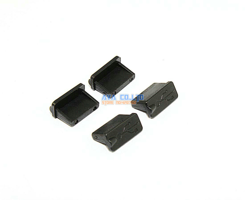 100 Pcs Soft Plastic USB Port Plug Cover Cap Anti Dust