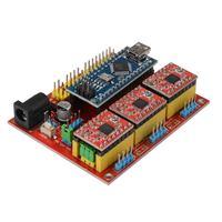 Placa de expansão nano 3.0 stepper a4988 protetor cnc v4 driver para impressora arduino 3d te732 Peças e acessórios em 3D     -