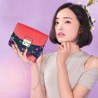 Design originale di marca 2018 di alta qualità bella borse cuoio del PVC cinghie a catena del messaggero della spalla crossbody sacchetto femminile
