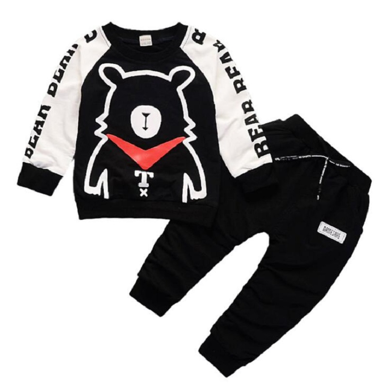 2pc Baby clothes Toddler kids baby boys pullover top /&pants outfits tracksuit