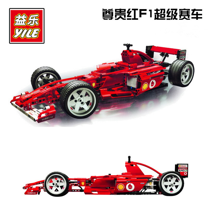 YL005 744pcs Technic F1 Racer Car car-styling Building Blocks Bricks Kid fun Toys For Children Compatible Lepin 8157 Decool 3335 lepin 02012 city deepwater exploration vessel 60095 building blocks policeman toys children compatible with lego gift kid sets