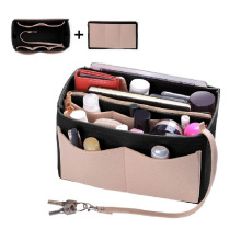 Purse Organizer,Felt Bag Organizer Insert Shaper Purse Organizer with Zipper Fit all kinds of Tote/purses Cosmetic Toiletry Bags