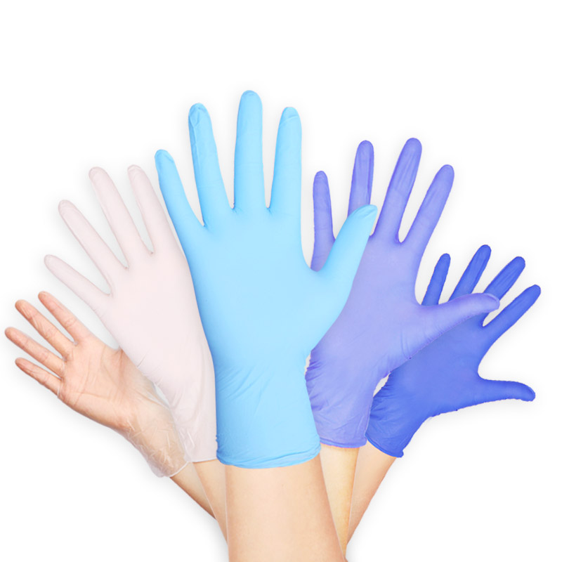 100pcs Disposable Rubber Latex Gloves, 6-Color Food and Beverage Thicker Durable Household Cleaning Gloves Experimental Gloves(China)