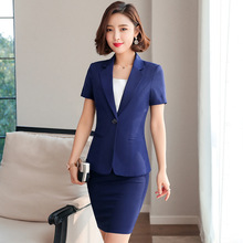 Womens suits 2019 summer new ladies business professional short-sleeved suit fashion skirt slim trousers three-piece