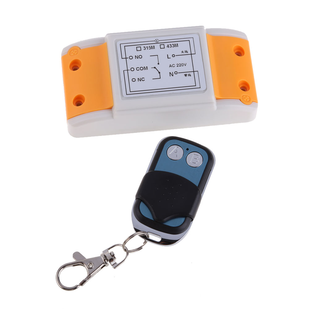 DC 12V Remote Control RF Wireless Transceiver Transmit 100M AC220V 1CH 1 Receiver and 2 Button drf4431f13 433mhz 13dbm rf wireless transceiver module