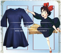 New Kiki's Delivery Service Kiki Dress Cosplay dress +headwear+ bag halloween Cosplay Costume party clothes F-0565