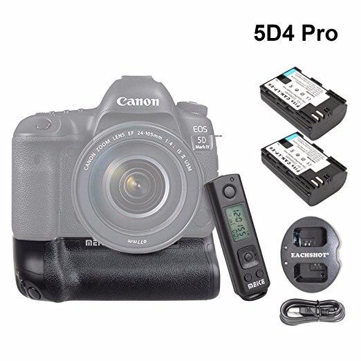 Meike MK-5D4 PRO Batterie Grip Avec 2.4G Sans Fil À Distance pour Canon 5D Mark IV comme Canon BG-E20 avec LP-E6 Batterie et Chargeur