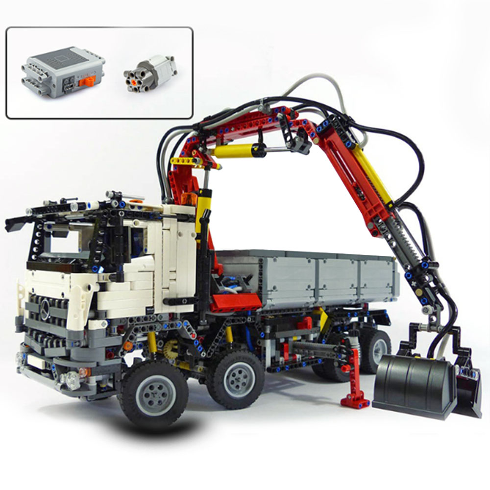 3245pcs LEPIN 20005 technic series Arocs Model Building blocks Bricks Compatible with legoingly 42043 Funny Toy for Children lepin technic series building bricks 20005 2793pcs arocs truck model building kits blocks compatible 42043 boys toys gift