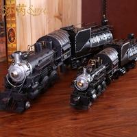 New Steam Retro Model Train Locomotive Accessories Gift Handmade Ornaments Home Decoration Crafts