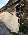 Dreagel Nova Moda Querida Chiffon Frente Dividir Praia Vestido de Noiva 2017 Apliques Delicados Vestido de Noiva Vestido de Noiva