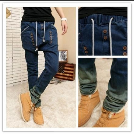 Spring 2017 design hip hop slim fit mens Casual men long pants baggy straight men waist elastic Denim Skinny Cropped jeans homme 2017 ripped straight jeans men slim fit zipper jeans men s hole denim fabric hip hop skinny cotton white blick pants casual mens