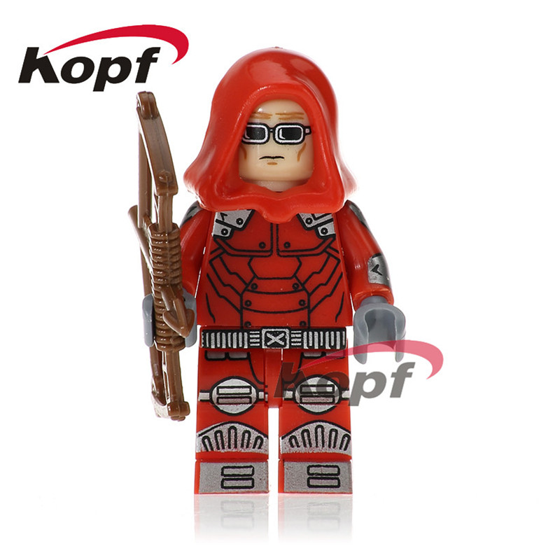 20Pcs Super Heroes Red Arrow Cannonball Nathaniel Essex Captain America Building Blocks Collection Toys for children Gift PG223