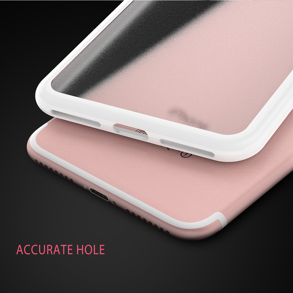 MR.YI Candy Color Frame Phone Case For iPhone 7 For iPhone 7 Plus Colorful Matte Clear Transparent Cover Case For iPhone 7 Plus (6)