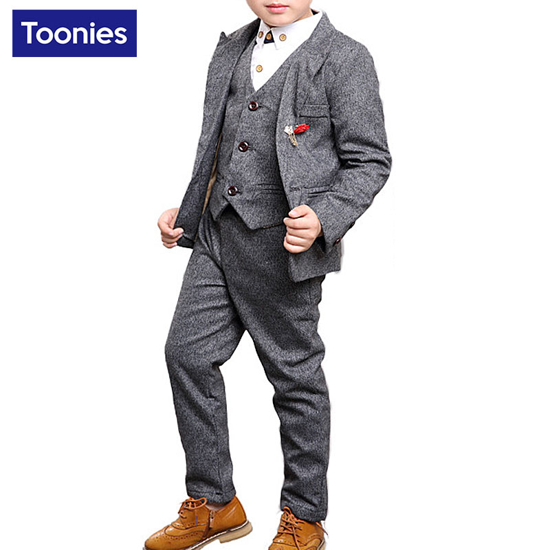 2017 Boys Wedding Suits Baby Kids Blazers Skirts Pants Set Childern Boy Costume Clothes Formal Prom Communion Party Suits 3pcs 2016 new arrival fashion baby boys kids blazers boy suit for weddings prom formal wine red white dress wedding boy suits