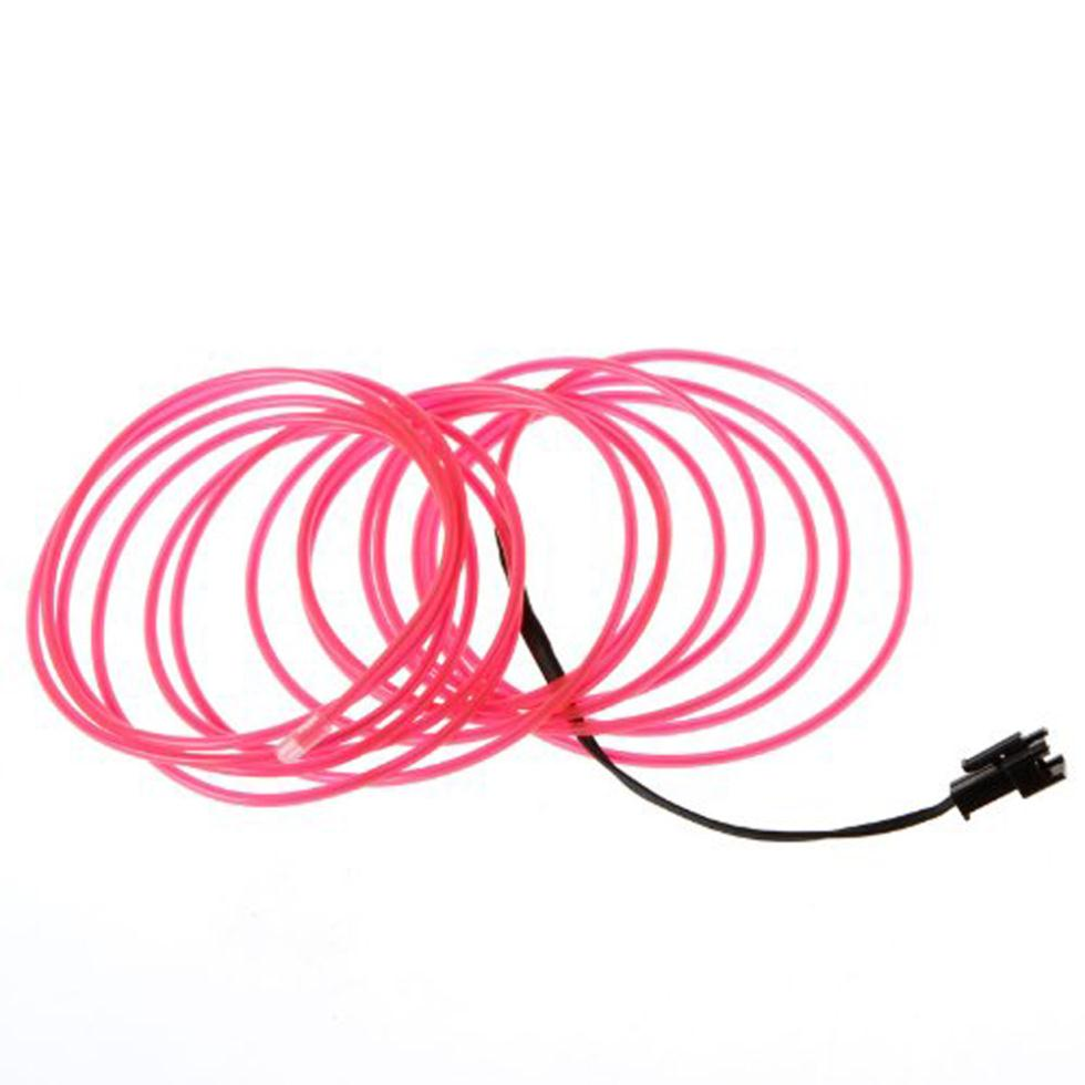 2015 Hot 3M Flexible Neon Light Wire Rope Tube With Controller (Pink)
