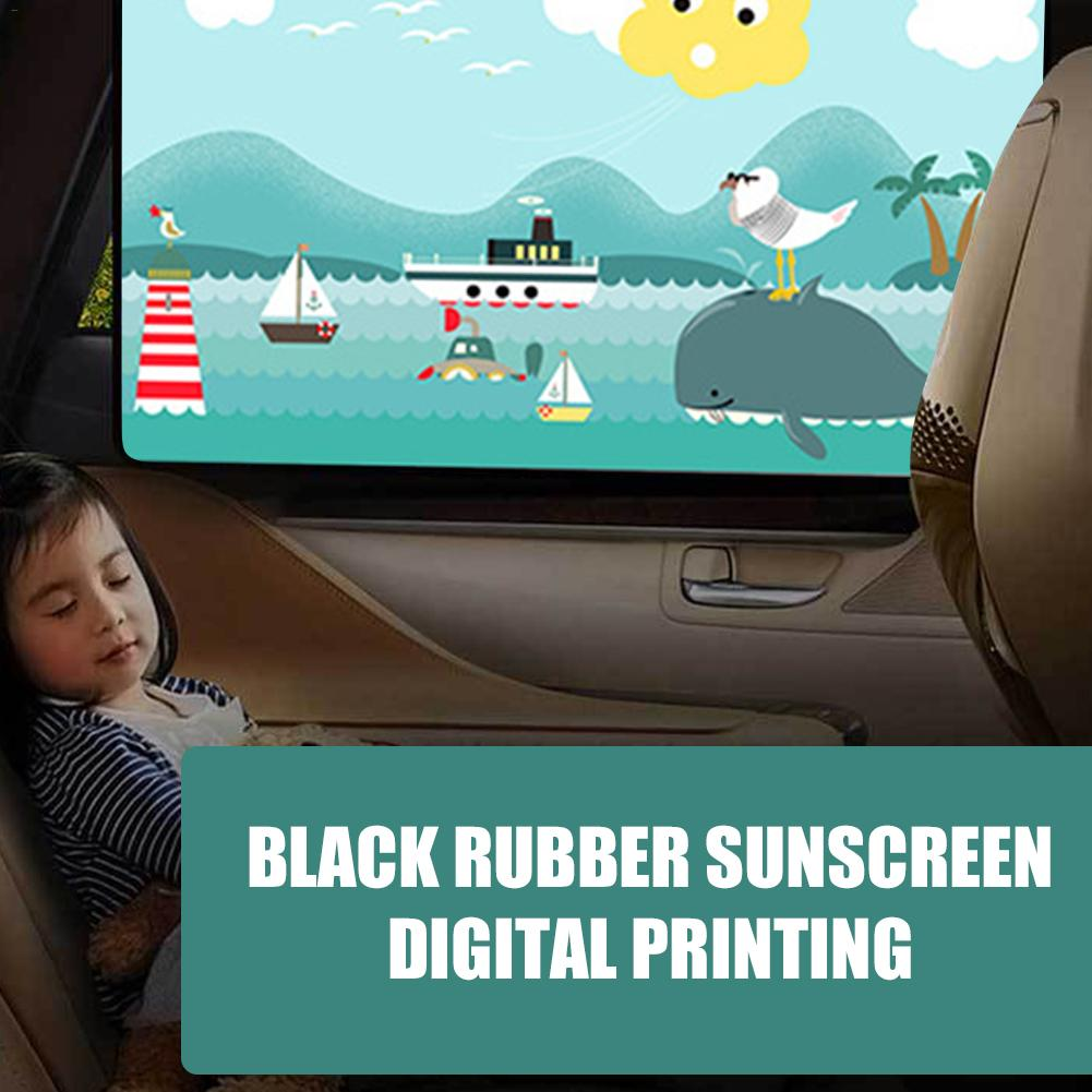 Hot Magnetic Car Sun Shade Sunshade Car Sunscreen Insulation Magnet Sun Shade Retractable Curtains Rear Row Cartoon Window Shade in Side Window Sunshades from Automobiles Motorcycles