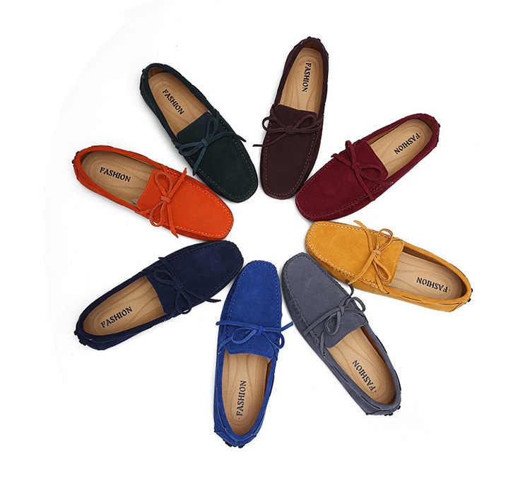 2019 New Men Casual รองเท้าแฟชั่นผู้ชายฤดูร้อน Loafers รองเท้าแตะรองเท้าผู้ชาย plus ขนาดลื่นบนเรือรองเท้าผู้ชาย vulcanize รองเท้า
