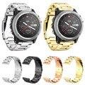 Pulseiras para derek garmin zlimsn fenix3 smart watch ouro prata preto pulseira de metal em aço inoxidável cinta faixa de relógio 26mm