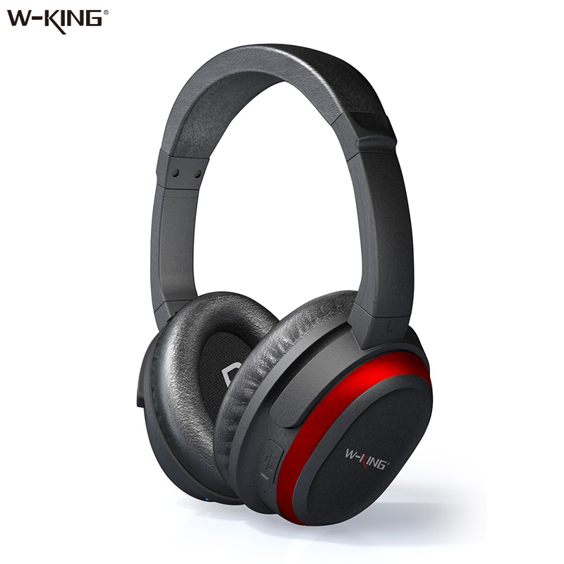 W-king Headphones Over-ear game Bluetooth Headphones with Microphone Active Noise-Cancellation Bluetooth Wireless Headphone dreamersandlovers bluetooth earbuds with microphone comfortable headphones with noise cancellation up to 7 hr music play black