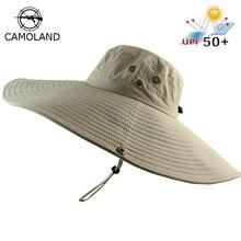 16 سنتيمتر طويلة واسعة حافة قبعة بحافة تنفس سريعة جاف الرجال النساء Boonie قبعة الصيف الأشعة فوق البنفسجية حماية كاب المشي الصيد قبعة الشمس الشاطئ