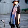 Tassel Fringe Cachecóis de Lã para As Mulheres da Manta de Tartan Capa Cashmere Envoltório do Lenço do Xaile Neck Warmer Inverno