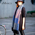 Tassel Fringe Tartan Plaid Wool Scarves for Women Cashmere Cape Scarf Wrap Shawl Neck Warmer Winter