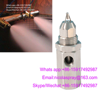 Ultrasonic air atomizing nozzle Dry mist dust suppression nozzle Two fluid atomizing nozzle Workshop humidifying nozzle