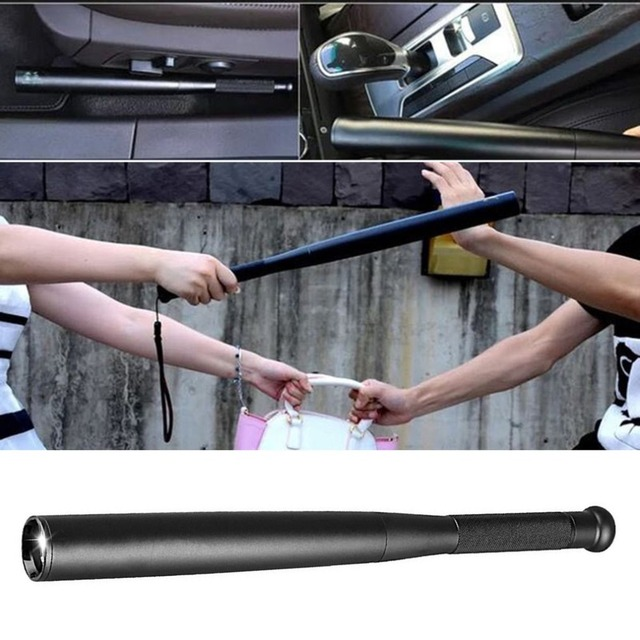 Self Defense Baseball Flashlight Stick LED Baseball Bat Aluminium Alloy Torch For Emergency Self Defense Anti Riot Equipment 3