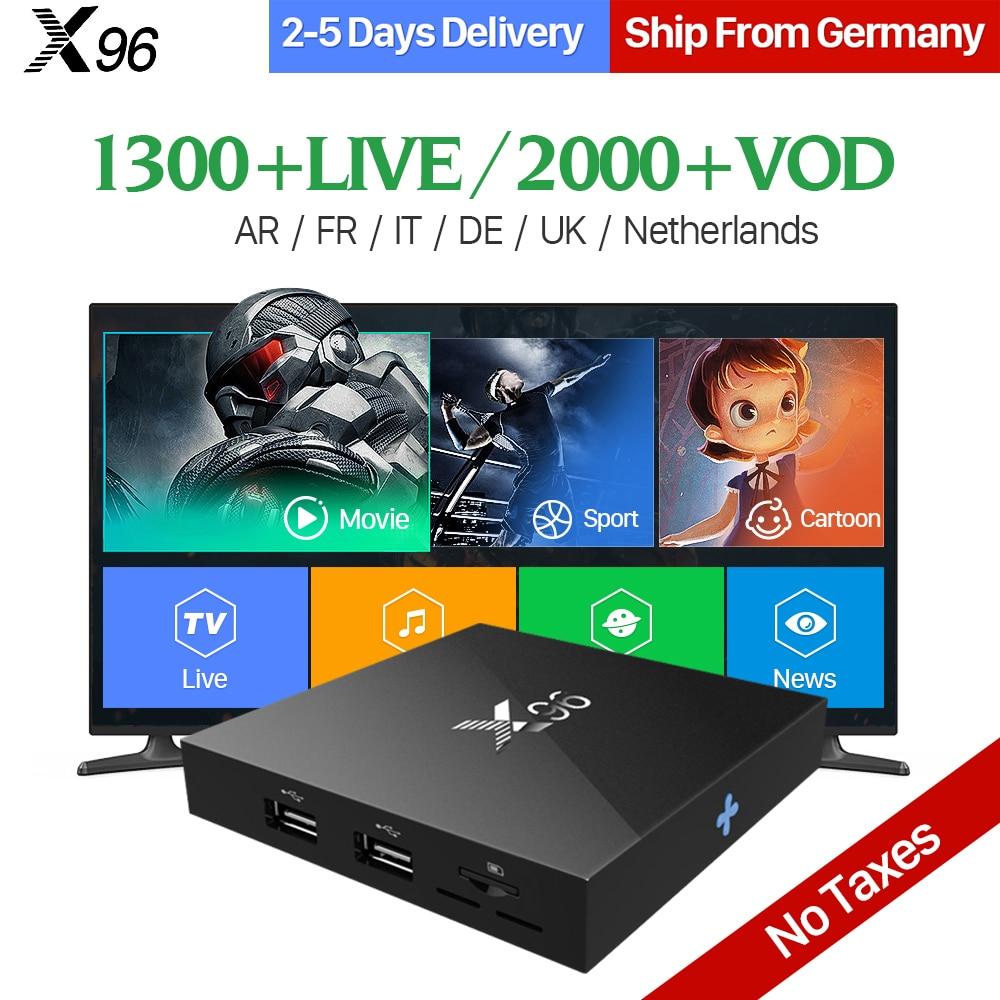 Arabic IPTV Box X96 Android 6.0 Smart 4K TV Box 1300 Channels Iptv Code QHDTV 1 Year Subscription Europe French IP TV Top Box amazing arabic french iptv top box 3gb 32gb t95zplus android 6 0 smart tv box s912 qhdtv subscription europe italy iptv channels